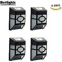 Derlight® Resistente al agua Funciona con energía solar LED lámpara de pared para, para al aire libre Paisaje Jardín Patio jardín Iluminación y Decoración