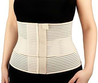Deluxe Postpartum Dual Compression Post Natal Belt Ladies Postpartum Recovery Womens Slimming Belt Waist Trainer Shapewear Tummy Shaper Trimmer Belt Support Girdle Postnatal Belt Body Shaper Size XS