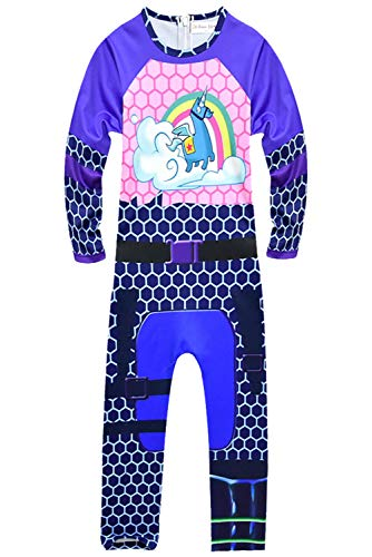 Jungen Kostüm Anime - RedJade Anime Superheld Jumpsuit Overall Catsuit Bodysuit Cosplay Kostüm Kinder Jungen Blau 150