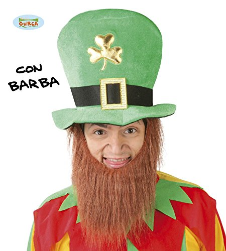 grüner Kobold Hut mit Bart für (Und Hut Bart)