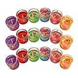 #8: Gel Candles Color Full Glass container Pack of 6 Candles