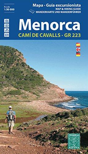 Menorca. Camí de Cavalls. GR-223. Escala 1:50.000. Mapa excursionista. Español, English, Deustch. Alpina editorial (Guias De Senderismo) por VV.AA.