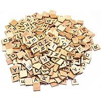 Lenhart in legno scrabble Tiles Set completo di 100, Craft, giochi da tavolo, ciondoli Crafts Spelling pezzi, Legno, 400 pcs