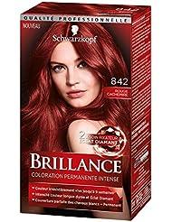 Schwarzkopf Brillance - Coloration Permanente Intense - Rouge Cachemire 842