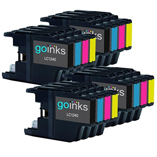 4 Go Inks Ensemble de 4 Cartouches d'encre � remplacer Brother LC1240 & LC1220 Compatible/non-OEM pour Brother DCP et MFC Imprimantes (16 Encres)