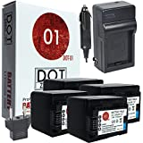 4X DOT-01 Brand Canon HF R70 Batteries And Charger For Canon HF R70 Camera And Canon HFR70 Battery And Charger Bundle For Canon BP727 BP-727