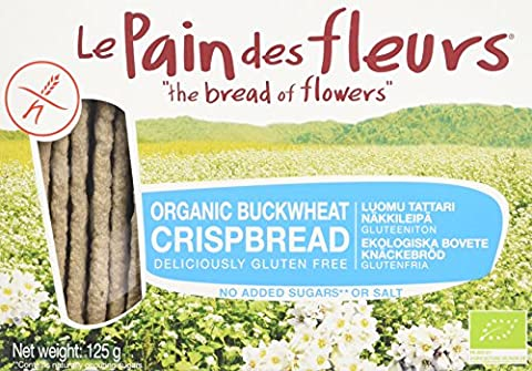 Le Pain Des Fleurs Organic Buckwheat Crispbread No Salt 125g (Case of 6)