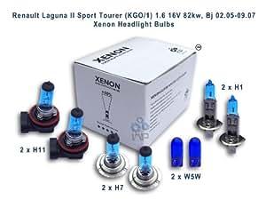 ampoules de phare de voiture d'effet de xénon H11 H1 H7 W5W, 8-pack