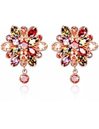 YouBella Stylish Party Wear Jewellery Gold Plated Studs Earrings for Women (Multi-Colour)(YBEAR_31128A)