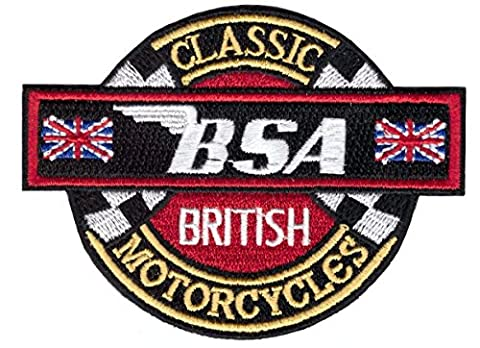 Classic British Motorcycles BSA Biker Jacket Vest Patch Iron On by Titan One Aufnäher Aufbügler (Classic British Motorräder)