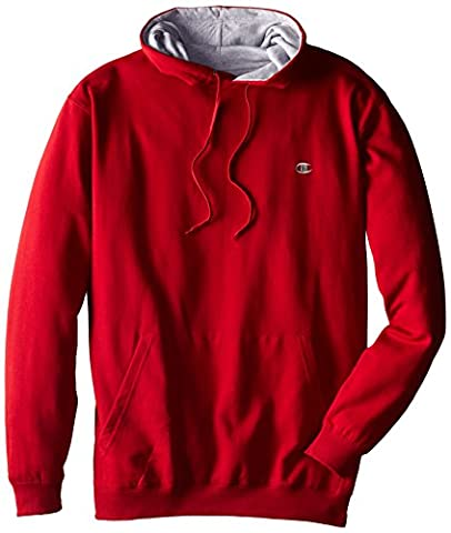 Champion Men's Big-Tall Fleece Pullover Hoodie, Cardinal Red,