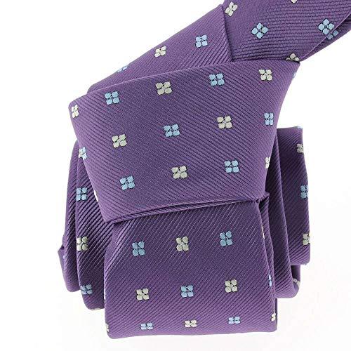 Clj Charles Le Jeune - Cravate Clj, Violet, Motifs Fleurs