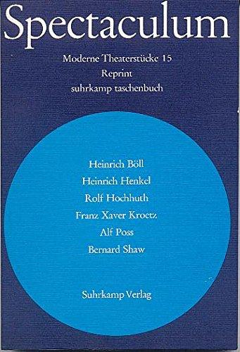Spectaculum: Reprint der Bände 1-15 [1956-1971] (Suhrkamp Taschenbücher)