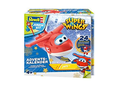 51pq%2B01ru%2BL - Revell Junior Kit 01024 Super Wings Adventskalender Jett Bauen-Schrauben-Spielen, 24 Tage cooler Bastelspaß, ab 4 Jahre, 20 cm
