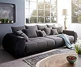 DELIFE Bigsofa Violetta Schwarz 310x135 cm inklusive Kissen Big-Sofa