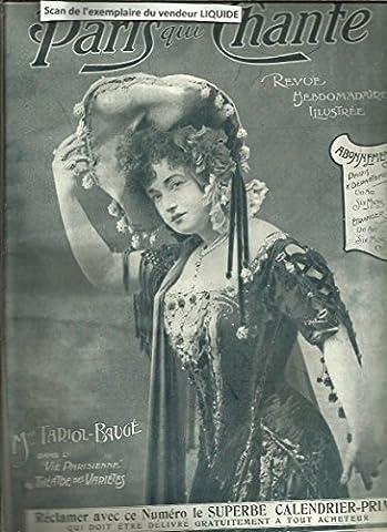 Paris qui chante N° 103 du dimanche 8 janvier 1905