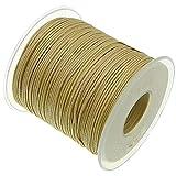My-Bead 90m Nylonband Kordel 1mm hautfarben beige wasserfest Nylonschnur Top Qualität Schmuckherstellung basteln DIY