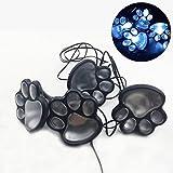Broadroot 4 Solar Katze Tier Pfotenabdruck Lichter Garten Im Freien Laterne LED Pfad Dekorative Lampe (Weiss)