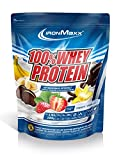IronMaxx 100% Whey Proteinpulver / Vanille Eiweißpulver Whey für Proteinshake...