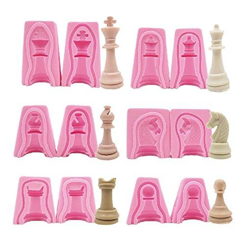International d'échecs en silicone Savon Moule à pâte Fimo Argile Moule à 12 pcs un ensemble Moule à savon