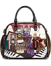 fda3ddcefe43 BAG Cuba Braccialini style handbag Italy Handcraft Art Design Women Handbag  with retro splicing messenger Tottyblu