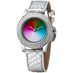 Rainbow e/motion of color Quartz Analogue EL47A-SS-ga Ladies Watch