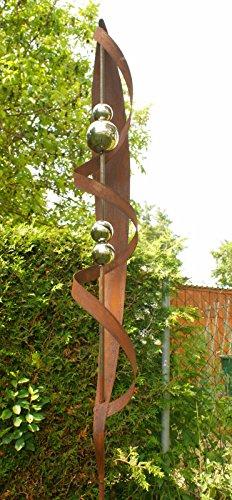 Garten Lieblingsstab 2 Meter Gartendeko Rost Stecker mit 4 Edelstahlkugeln