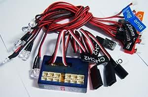 JMT 12 LED clignotant Smart LED Light System 2CH 4. 8-6V pour 1/10 RC voiture camion citerne