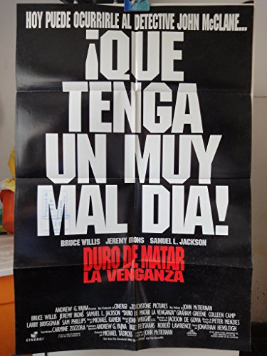 Original Spanish Movie Poster Die Hard With A Vengeance Duro De Matar 3 Bruce Willis Jeremy Irons Die Hard 3 (Duro De Matar)