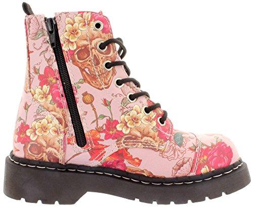 T.U.K., Stivali donna Rosa (Multicolore)