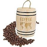 Kaffeedose Luftdicht mit Deckel Holz Kaffeebohnen luftdichter Behälter für Kaffeebohnen Kaffeepulver Tee Kakao Nahrungsmittel, 17.5 x 11.5 cm