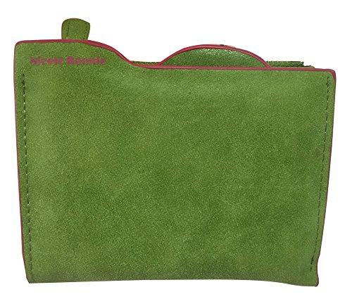 Minetom Donne Colore Della Caramella PU Leather Portafoglio Lungo Breve Porta Monete TitolareDellaCartaPochettePortafoglio Borsetta ( Verde 2 ) Verde 2