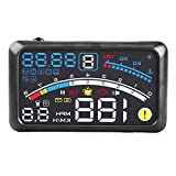 """5.5"""" Car Hud Heads Up Display, Universal F4 MPH Over Speed Alarm Speedometer"""