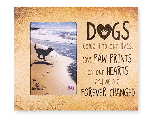 Dog Speak 24,1x 20,3cm Vertikal Holz Hund Katze Haustier Bild Rahmen Hält 6x 4Bild Wand Oder Tischplatte Hergestellt in Den USA 8