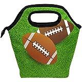 Lunch Bag Rugby Ball Field Football américain Isolé Lunchbox Thermique Portable Sac À Main Container Alimentaire Travail École Déjeuner Fourre-tout