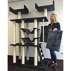 Kratzbaum große katze XXL Cat Temple Elite Anthrazit. Normal €399 ! Super Amazon Promo. Katzenkratzbaum Speziell für große und schwere Katzen. Europäischer Qualitätsproduktion von RHRQuality