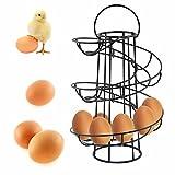 Safekom Spiral Helter Skelter Home Kitchen Cookery Storage Egg Holder Stand Rack Holds Up To 18 Eggs Hen Saving Twist Handle Display Frame - 1 Year Warranty UK Free & Fast Same Day Dispatch UK Seller