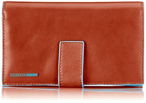 Piquadro Münzbörsen PD1353B2 Orange (Geldbörse Damen-französisch)