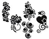 60 Airbrush Nailart Schablonen selbstklebend im Set - Gemischt