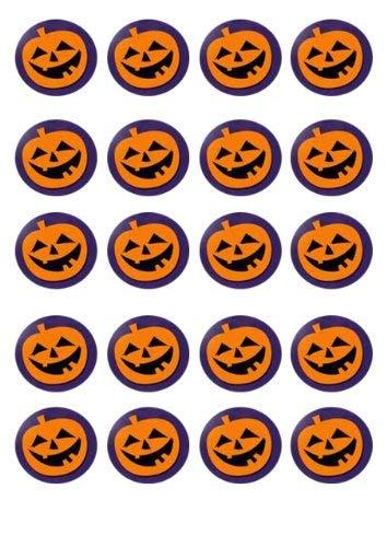 20 vorgeschnittene essbaren Kürbissen Halloween-Kuchen-Deckel Dekorationen