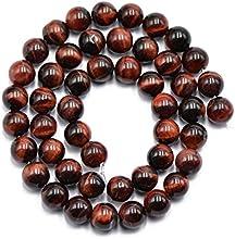8mm Joyeria Rojo Natural Ojo De Tigre Haciendo Cuentas De Piedras Preciosas Sueltos Hebra 15