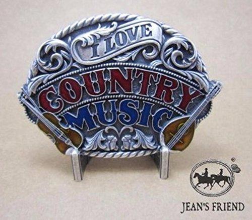 napolo Western Buckle Belt Cowboy gurtelschnallen New Land - Musik- stolz Grand Ole Opry I Love Country (Country Western Musik Kostüm)