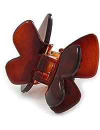 Avalaya Pequeña mariposa marrón acrílico pelo pinza para–45mm de ancho