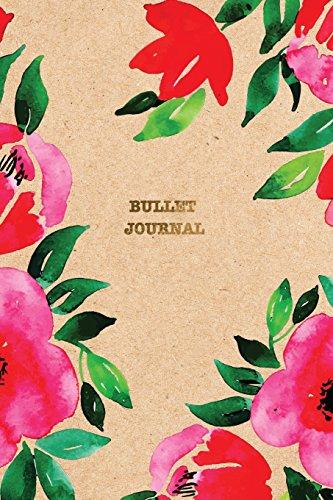 Bullet Journal: Floral Designer Dotted Grid Journal | 6x9 Dot Grid Notebook (Floral Bullet Journals, Band 1)