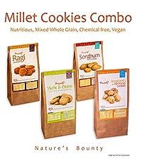 Grainny's Organic Whole-Grain Vegan Assorted Millet Cookies ( Pack Of 4) 480 gms.