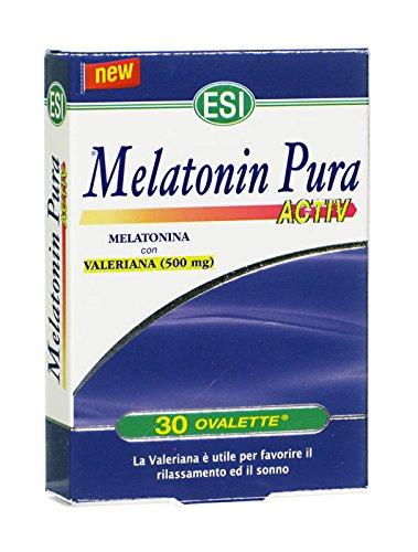 ESI Melatonina Pura Activ + Valeriana 30 Ovalette Sonno Relax Insonnia Sleep