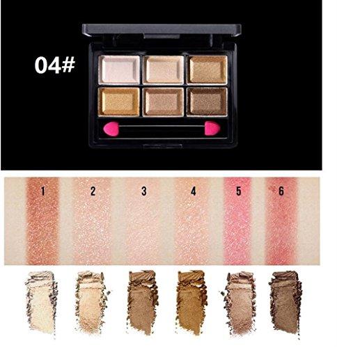 Strollway Augen Make-up Lidschatten für Anfänger 6 Farben Frauen Lidschatten Pearlescent Bunte...