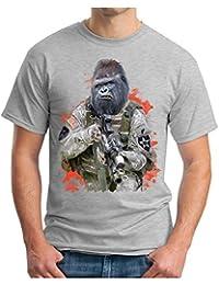 OM3 Army-Gorilla - T-Shirt Geek, S - 5XL