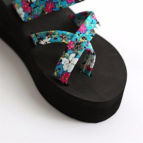 FLYRCX Onorevoli tacco alto pantofole antislittamento estate spiaggia pantofole b