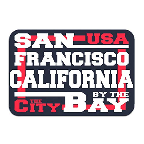Yuerb Carpet Rug Door mat san Francisco Print Design Vintage Stamp Designed Printing Products Badge Applique Labels Jeans 16 * 24 inch - Honig San Francisco